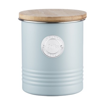 Емкость для хранения кофе Living, голубая, 1 л