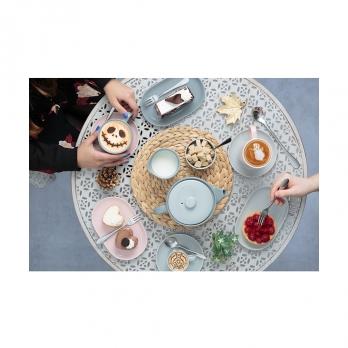 Тарелка сервировочная Cafe concept, 19.6х12.5 см, темно-серая