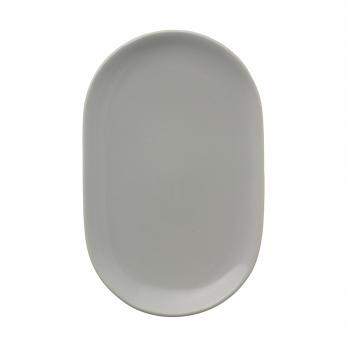Тарелка сервировочная Cafe concept, 19.6х12.5 см, серая