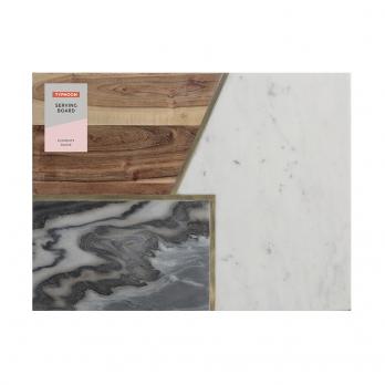 Доска сервировочная Elements из мрамора, камня и акации, 40х30 см