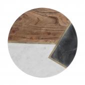 Доска сервировочная из мрамора и акации Elements, 30 см