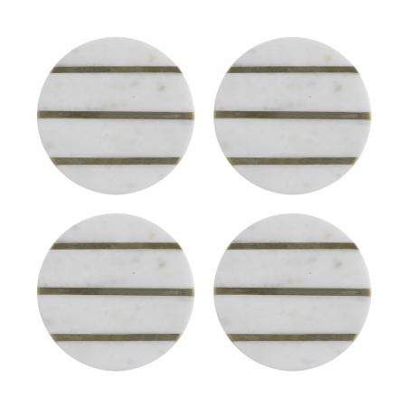 Набор из 4 подставок из мрамора Elements, 10 см