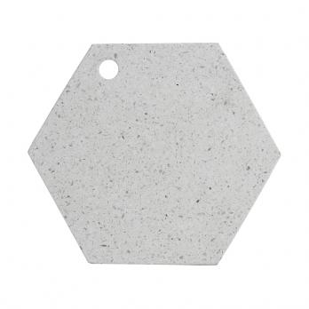 Доска сервировочная из камня Elements Hexagonal, 30 см