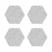 Набор из 4 подставок из камня Elements Hexagonal, 10 см