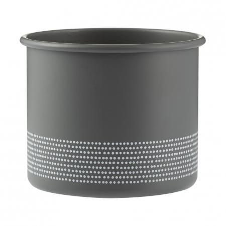 Горшок Monochrome, 700 мл, серый