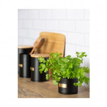 Кашпо для растений Living, 700 мл, черное